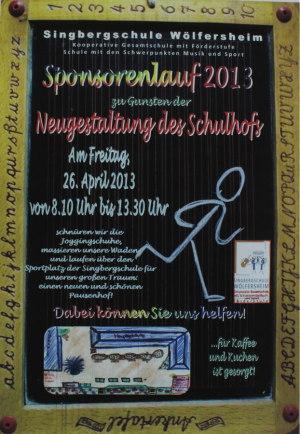 Sponsorenlauf-Plakat