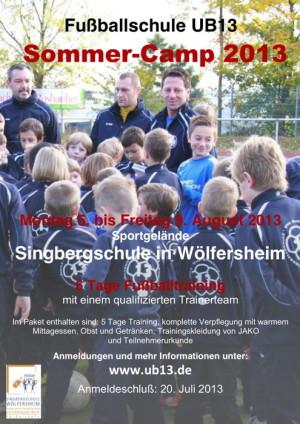 Poster UB13 Sommercamp 2013 mit Logo Singbergschule klein-pdf